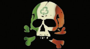 Irish skull black