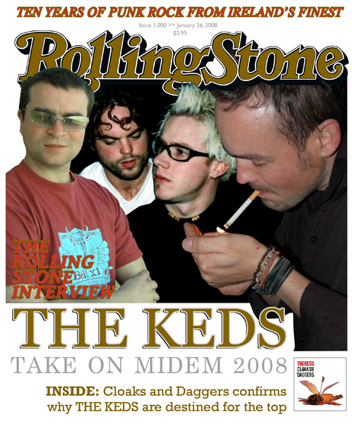 Midem 2008 Press Pack cover: A little something I whipped up to grab attention in Cannes. Some gullible people actually thought we were on the front cover of Rolling Stone magazine. Needless to say we didn't tell them otherwise :)